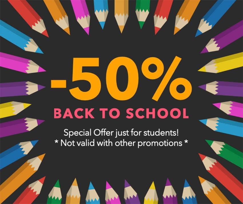 Back To School Savings Facebook Post Template