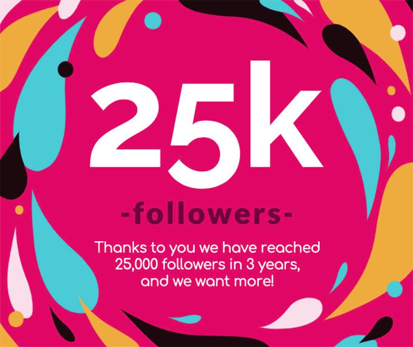 Follower Milestone Celebration Facebook Post Maker