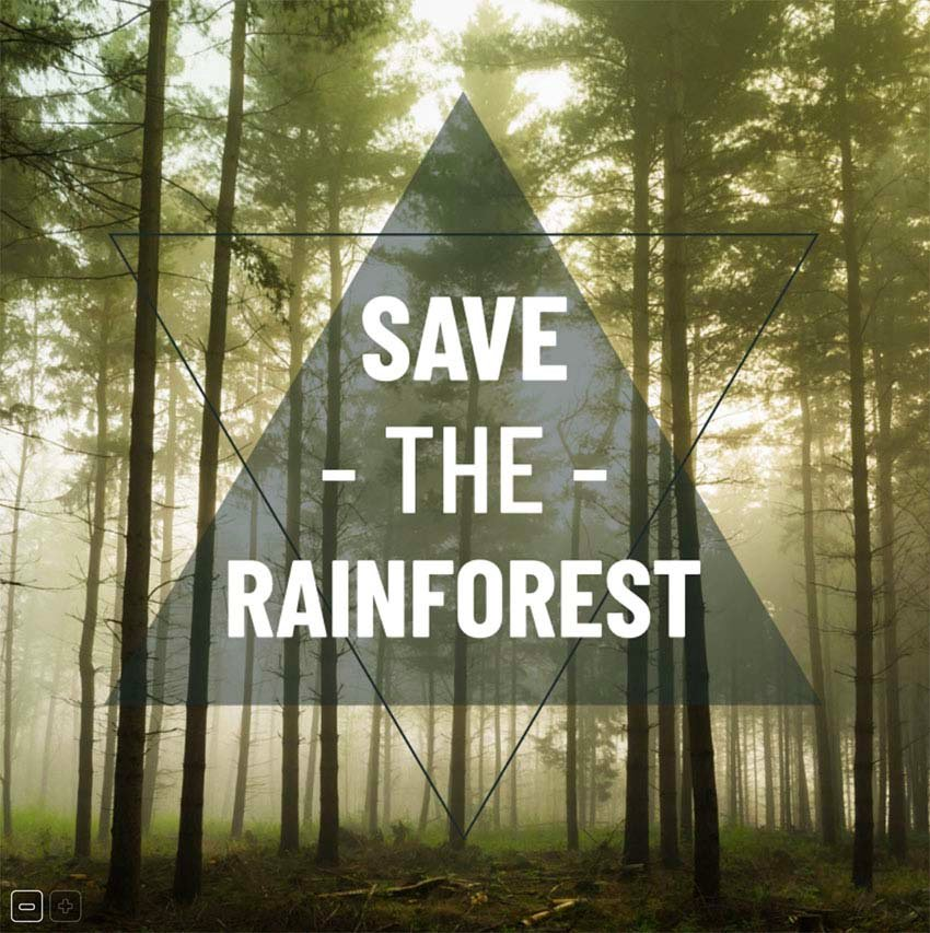 Facebook Template Post Maker for a Save The Rainforest Call