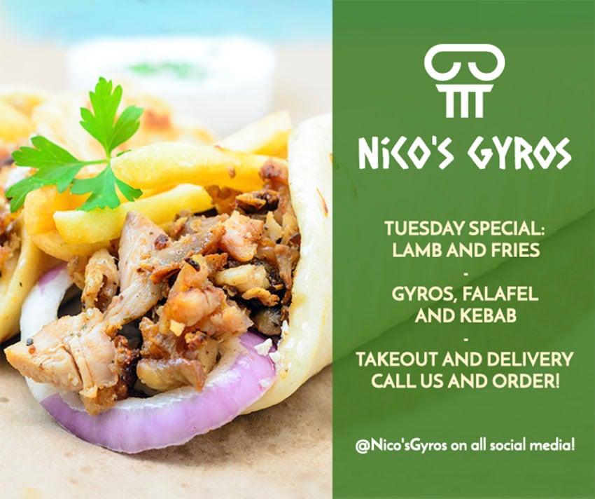 Greek Food Post Templates for Facebook