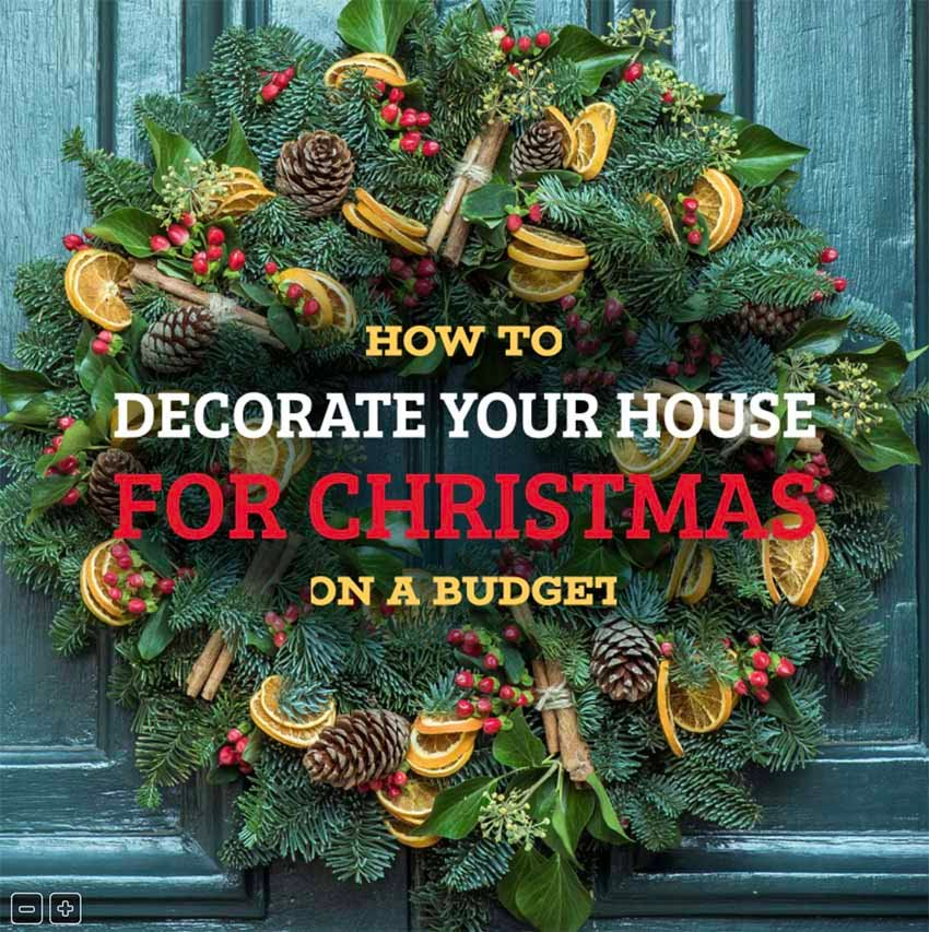Facebook Post Design Template for a Xmas Decoration Guide