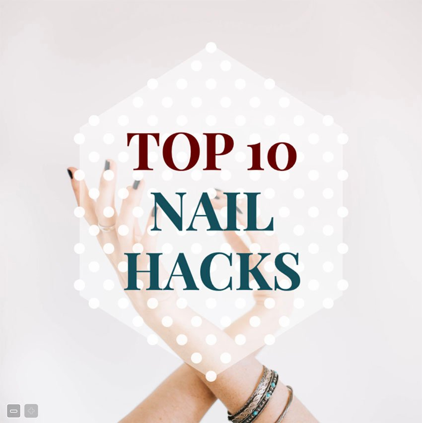 Facebook Wall Post Template for Nail Art