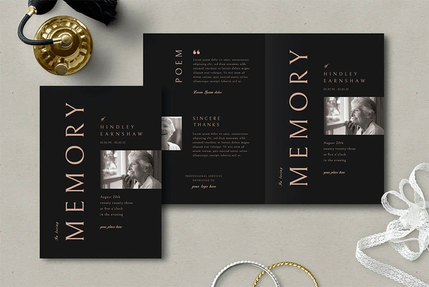 Funeral Pamphlet Template