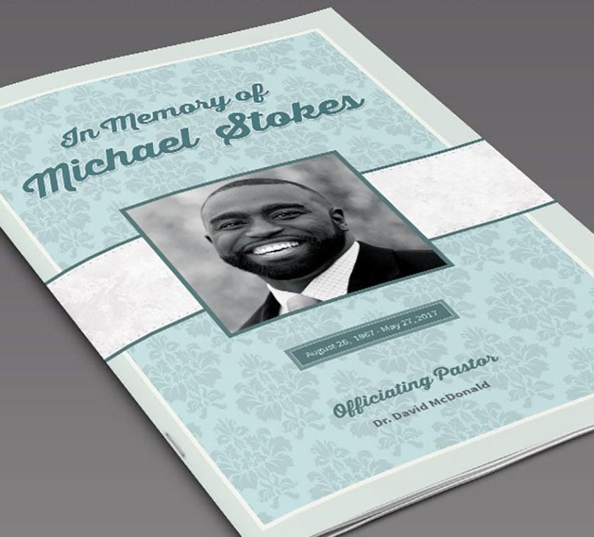 Sample Funeral Program Order of Service Template