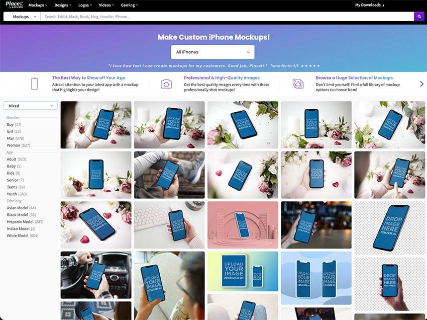 2. Select an iPhone Instagram Mockup You Like