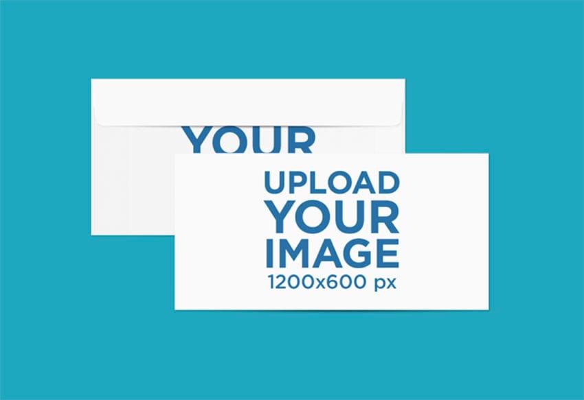 Postcard Mockup Generator on Colored Background