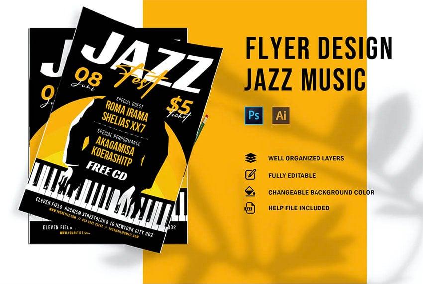 Jazz Music Concert Flyer Template