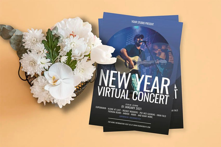 Music Flyer for Vitual Concents and More