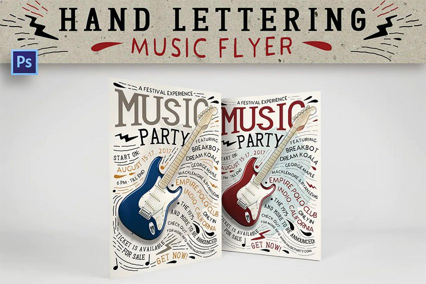 Hand Lettering Music Flyer