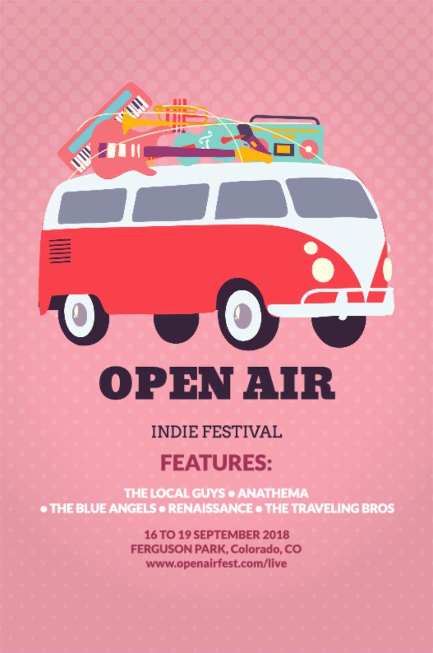 open air festival flyer