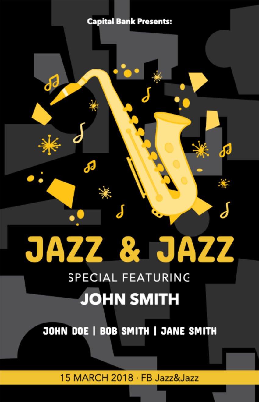 jazz band poster