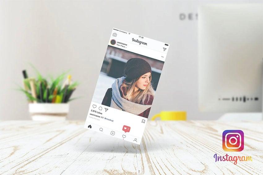 Paper Mockup for Instagram Post
