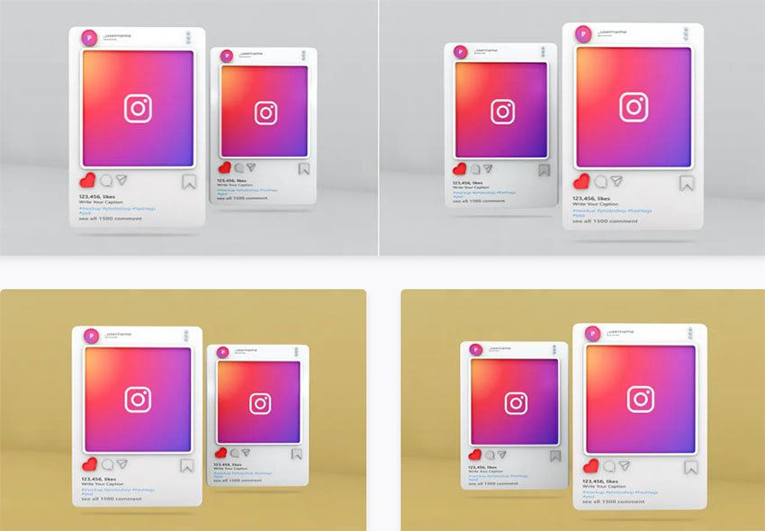 Instagram Post Mockup Template - Vol 08