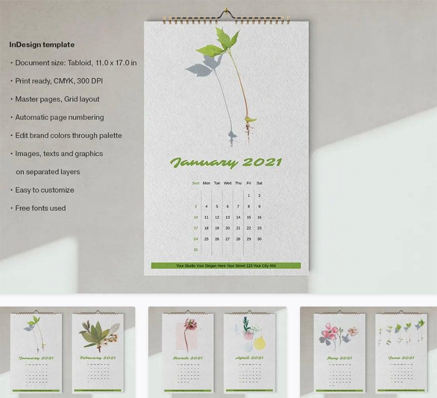 Printable Blank Calendar Template - Portrait