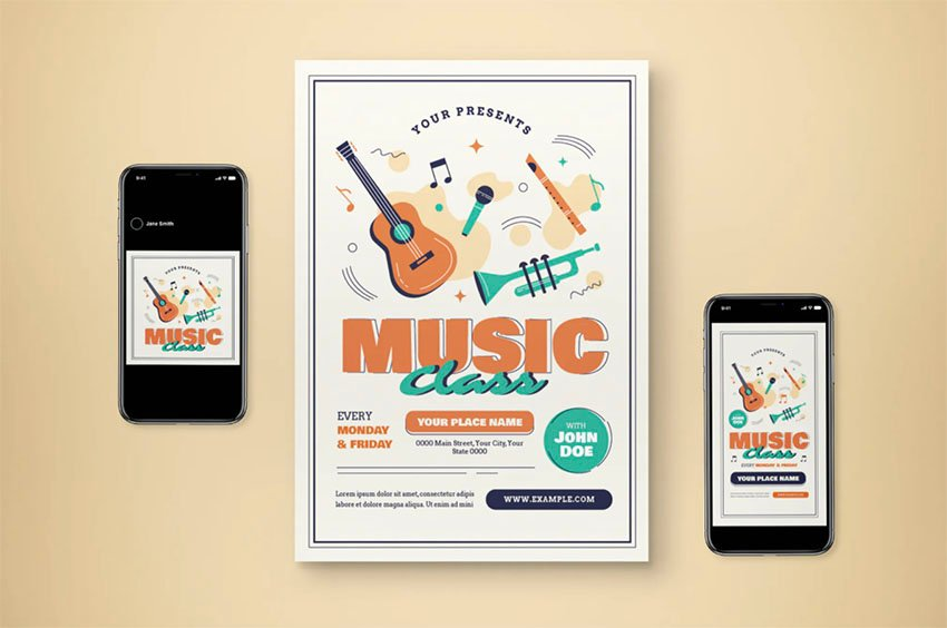 Music Lesson Flyer Examples