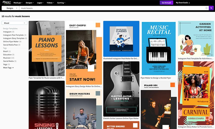 Music Lesson Flyer Templates