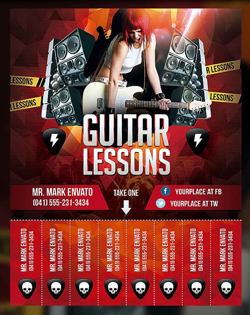 Private Music Lessons Flyer