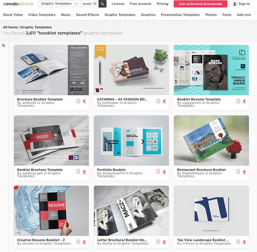 Best Booklet Templates From Envato Elements