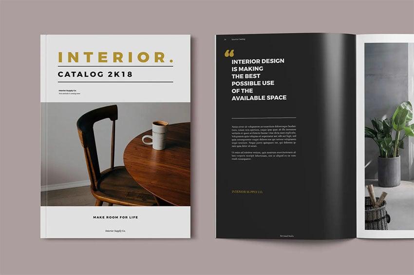Interior Design Booklet Template