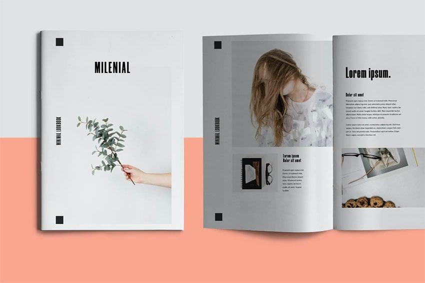 Milenial Design Booklet Template