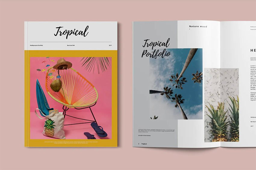 tropical booklet template