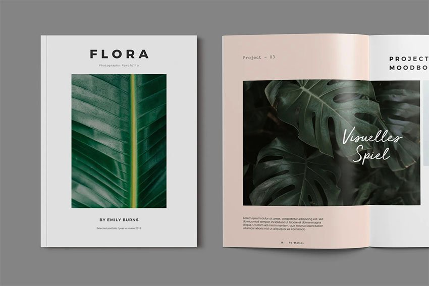 Flora Booklet Example Template