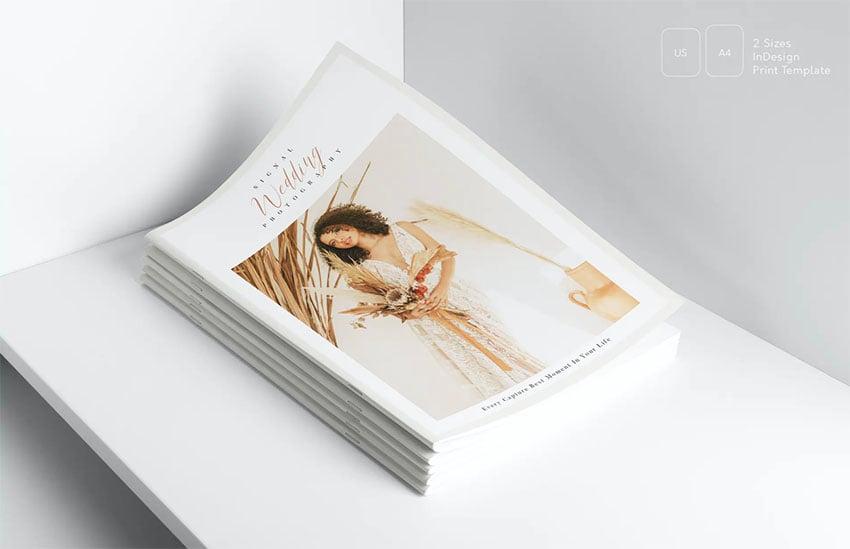 Wedding Abode Program Booklet Template