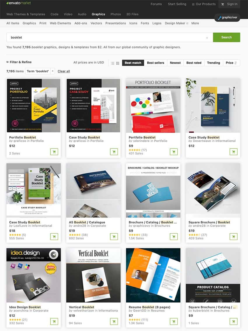 Best Booklet Templates From GraphicRiver