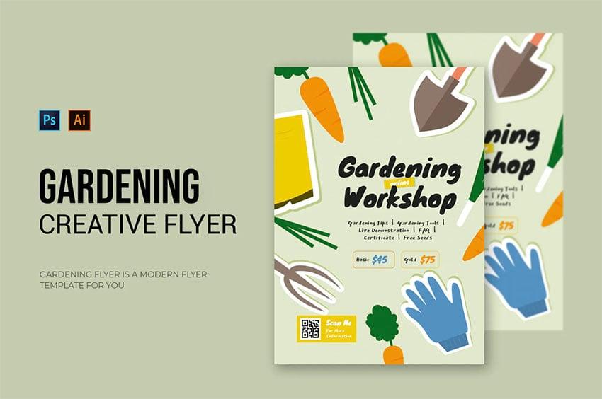 Gardening Workshop Flyers