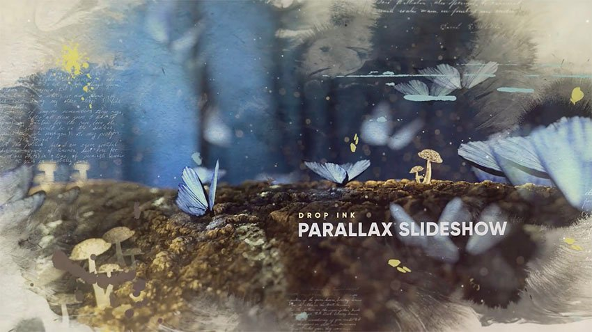 Drop Ink Parallax Slideshow
