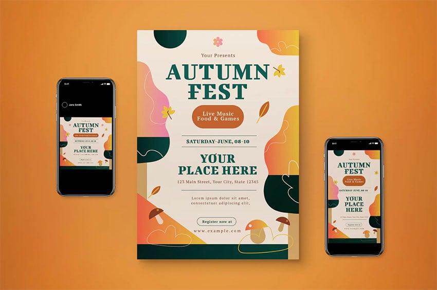 Autumn Festival Flyer Set