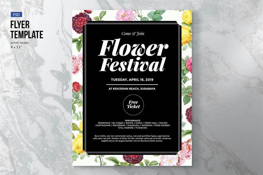 Flower / Fashion / Festival Flyer Template
