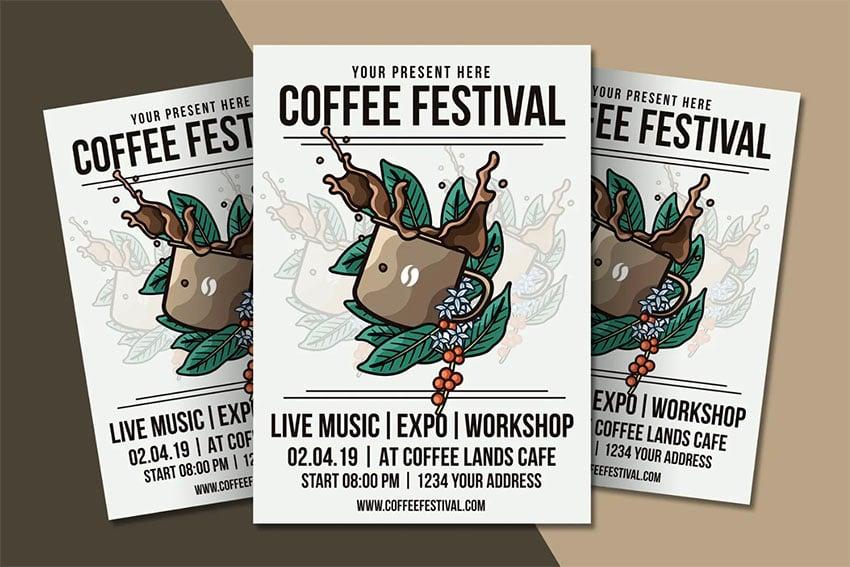 Coffee Festival Flyer Template