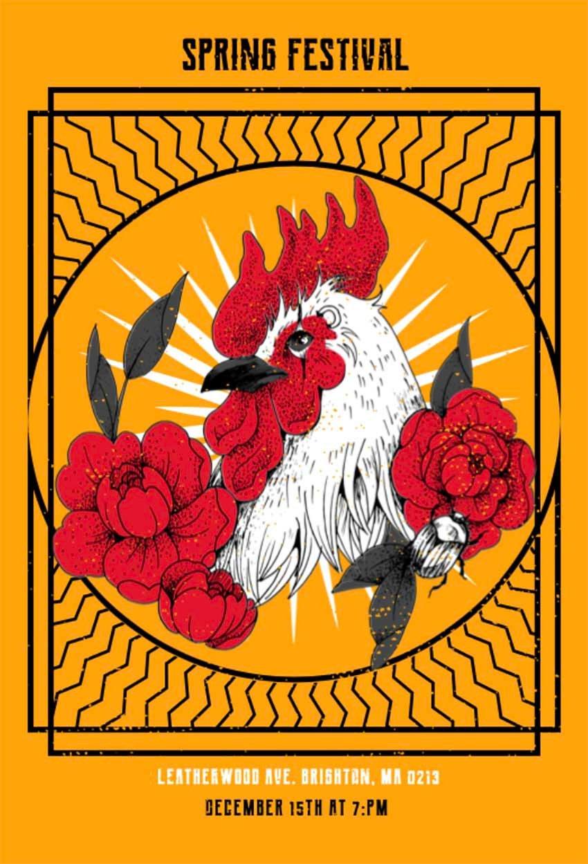 Spring Festival Flyers Design