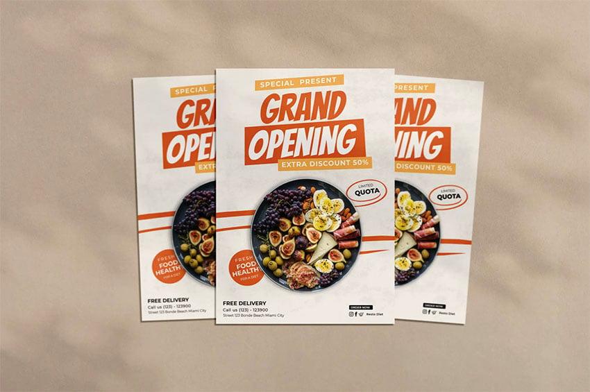 Restaurant Grand Opening Flyer Ideas