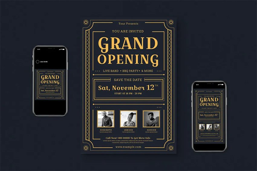 Grand Opening Flyer Set