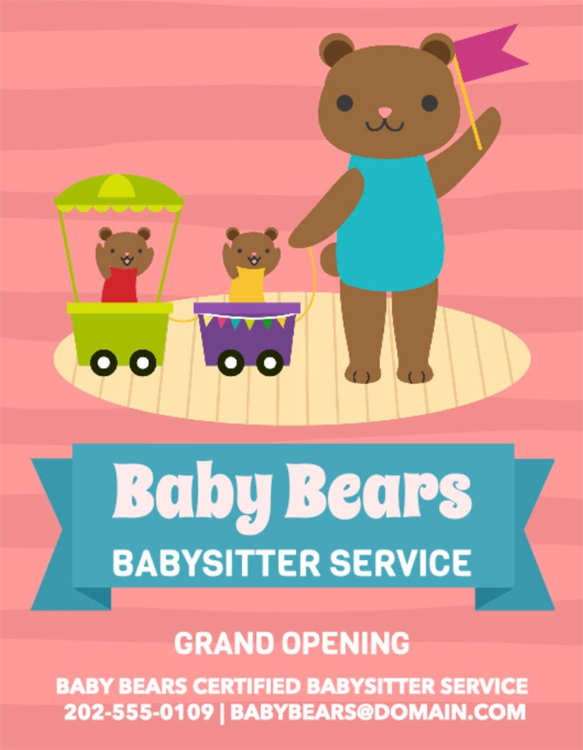 Daycare Grand Opening Flyer