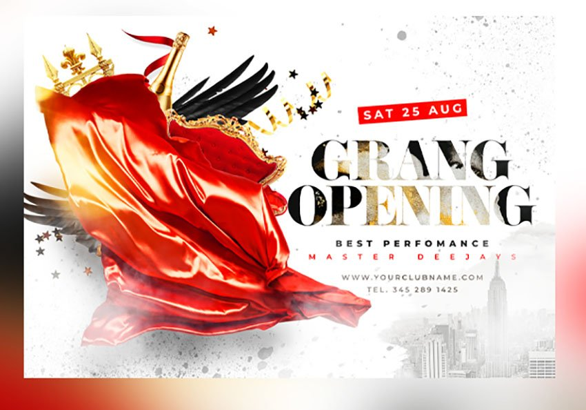 Grand Reopening Flyer Template