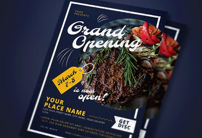 Grand Opening Restaurant Flyer Pack