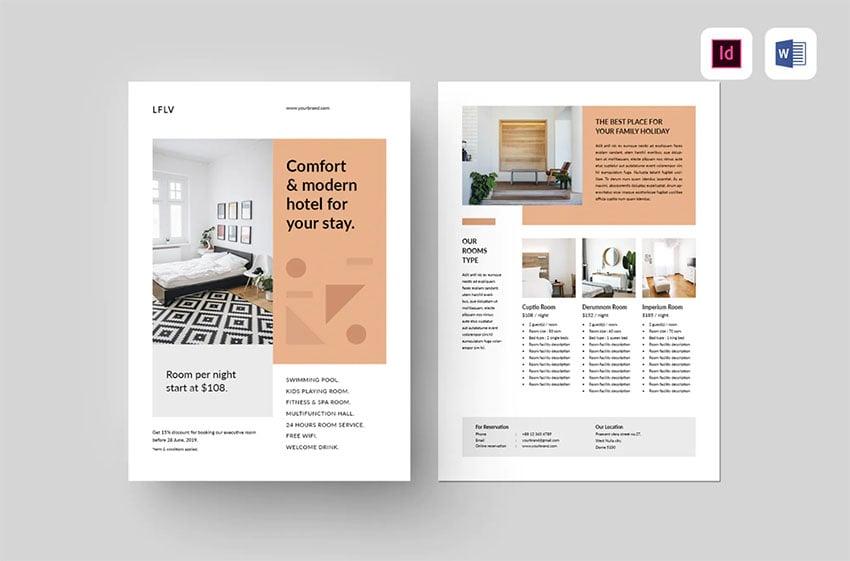 Simple Hotel Brochure (AI, EPS, PSD)