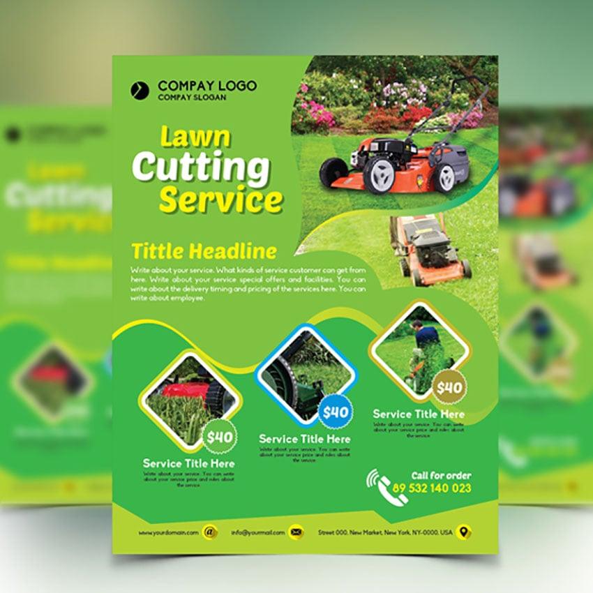 Lawn Care Flyer Designs