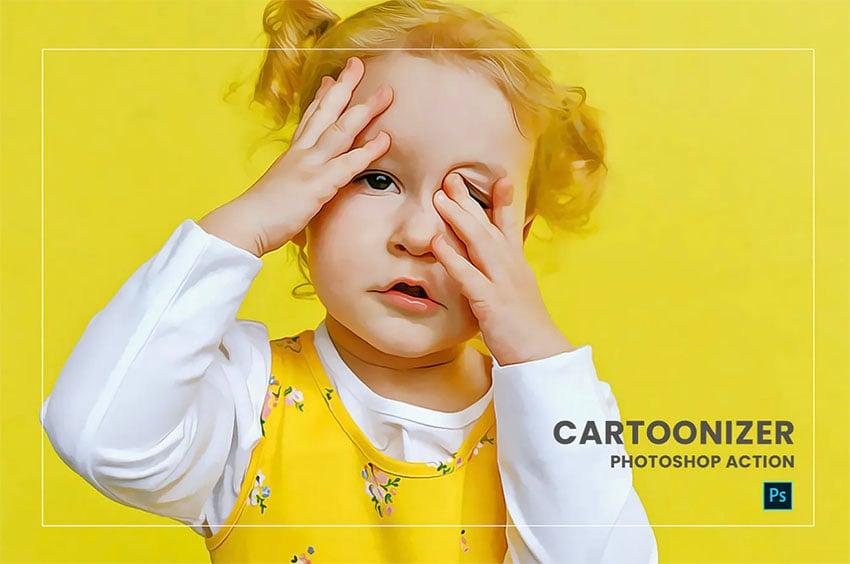Cartoonizer Photoshop Action
