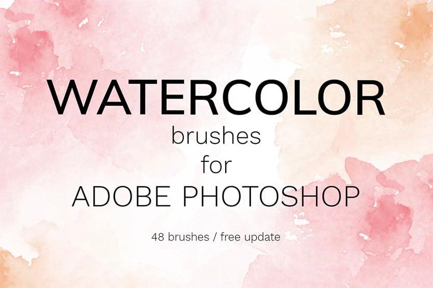 Watercolor Photoshop Brush Set