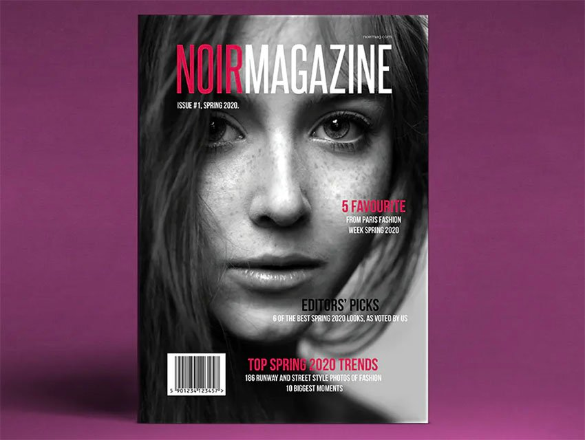 NOIR Magazine Template