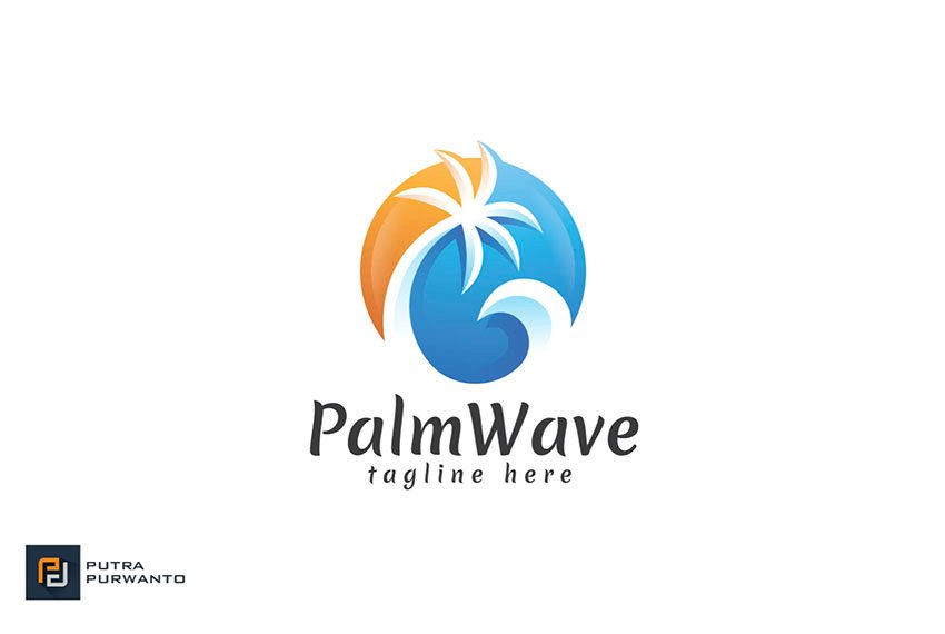 Palm Tree Vector Logo
