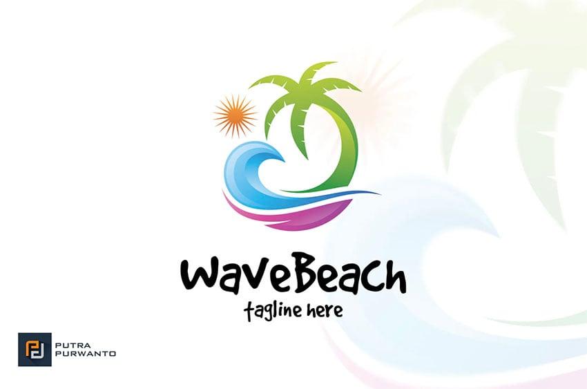 Colorful Palm Tree Logo