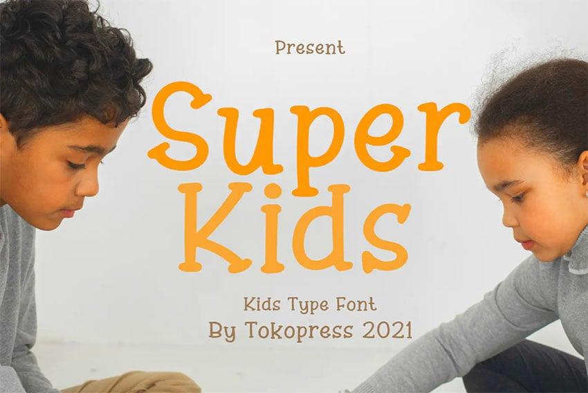 Superkids - Serif Font Handlettering