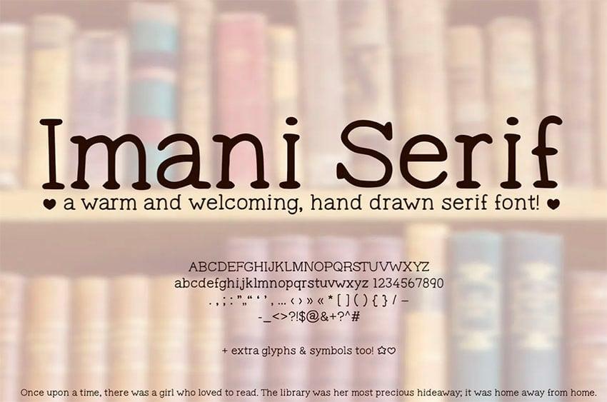 Imani Serif Handwriting Font