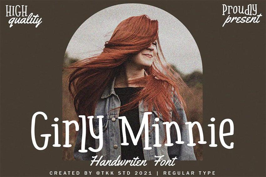 Girly Minnie Serif Font Handwritten