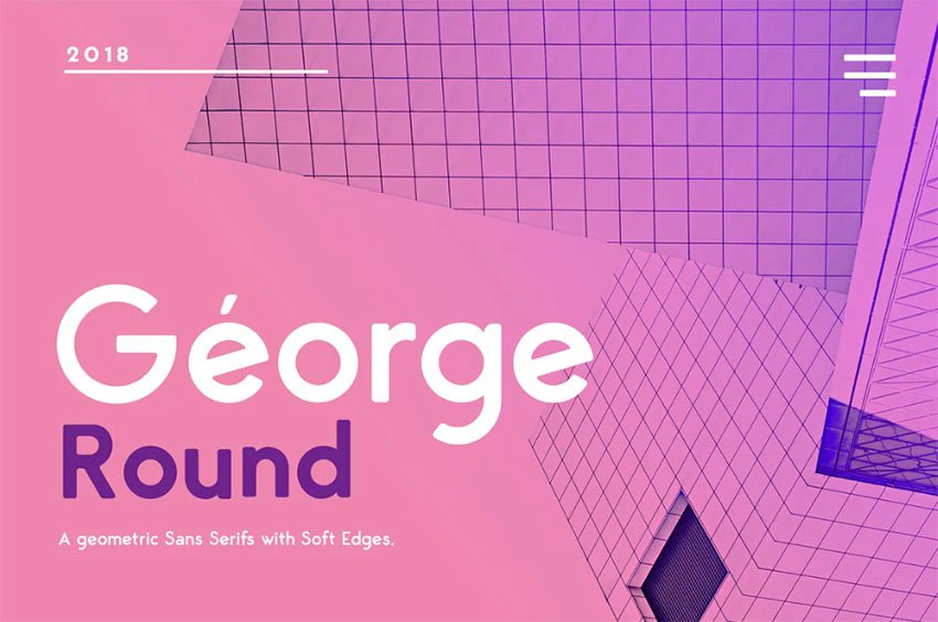 Géorge Font with Rounded Edges